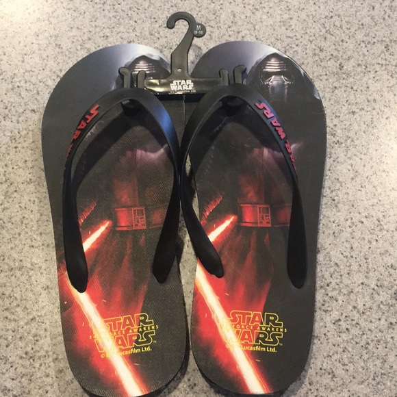 Star Wars Kylo Ren Flip Flops New FREE SHIPPING